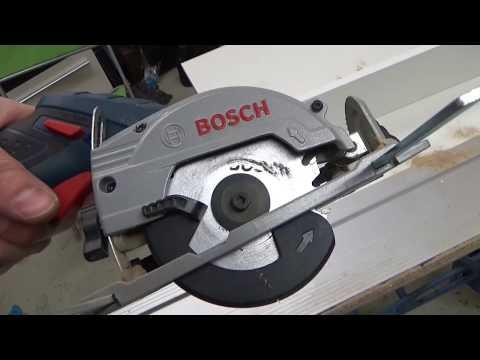 Bosch GKS 10,8V  im Praxis- Test mit Führungsschiene