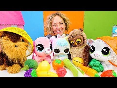 Nicoles Spielzeug Kindergarten - Lernen Obst und Gemüse - Kindervideo