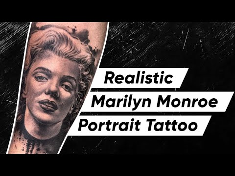 realistic marilyn monroe portrait tattoo by sunny bhanushali