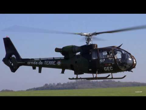 🇫🇷 Great Sounding French Army Gazelle Helicopters, Engine Start & Taxi Hover