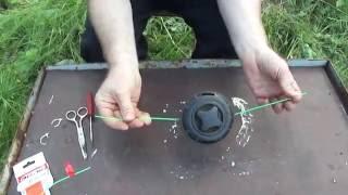 Как укладывать леску на катушку триммера