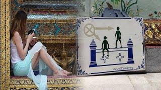 Mirip Syahrini, Bule Cantik Dikecam karena Berpose tak Pantas di Tempat Suci