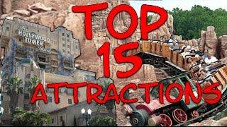 TOP 15 Des ATTRACTIONS De DISNEYLAND PARIS