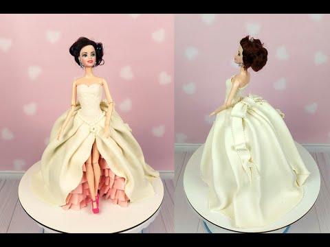 Мастер-класс создания торта вместе с куклой барби