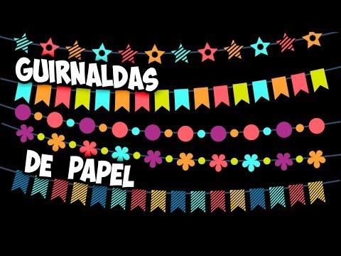 Guirnaldas de papel | Decoración de fiestas | Guirnaldas de flores | Guirnaldas de navidad