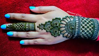 Back Hand Beautiful Henna Design - Simple And Easy Mehndi Designs For Hands