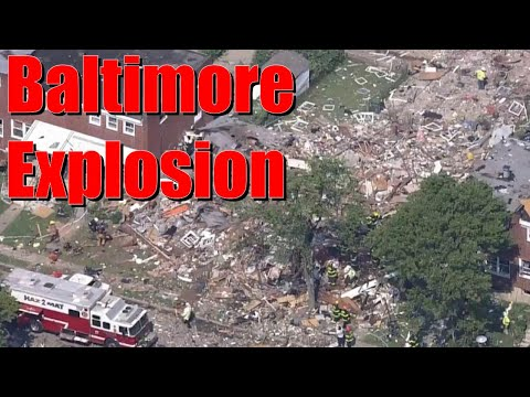 Massive Baltimore explosion destroys several houses, killing at least 1 and trapping 5 others