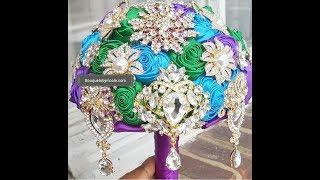 DIY Brooch Bouquet L Easy Tutorial L Wedding Project L Peacock