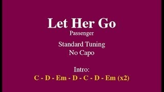 Let Her Go - Easy Guitar (Chords and Lyrics)
