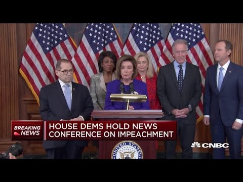 Watch the full press conference where House Dems unveil articles of impeachment