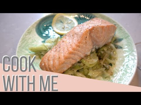 Casual Saturday Night Cook With Me | Roasted Salmon & Buttered Leeks