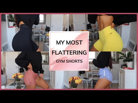 MY FAVOURITE / MOST FLATTERING GYM SHORTS HAUL   STEF FIT