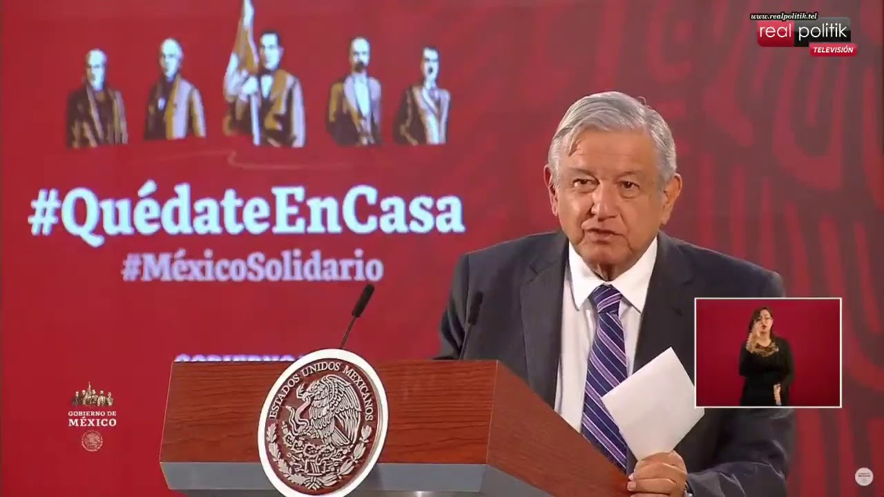 México: El presidente Andrés Manuel López Obrador reporta la situación del coronavirus en el país