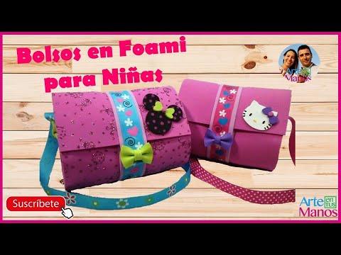 Bolsos Para Niñas en Foami o Goma Eva - Bags girl in foam