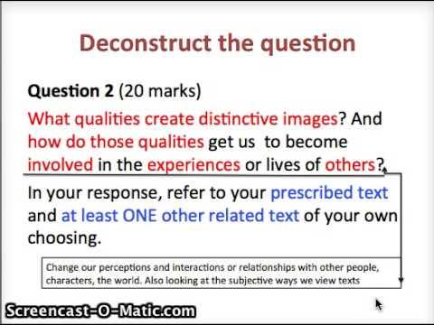 Distinctly visual essay questions
