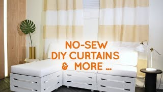 No Sew DIY Striped Curtains And Other Easy DIY Home Decor Accessories