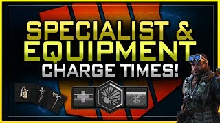 Fastest Charging Specialist & Equipment? | All Charge Times in Black Ops 4!