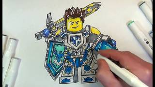 How to draw Clay Morington #Step by Step#Nexo Knights#LEGO