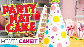 Funfetti Party Hat CAKE! | How To Cake It