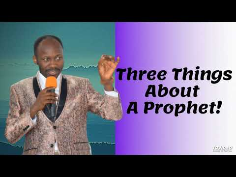 #Apostle Johnson Suleman(Prof) #Three Things About A Prophet