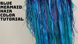 Blue Mermaid Hair Tutorial | Blue Ombre Hair Tutorial