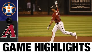 D-backs score nine in the 4th in blowout win | Astros-D-Backs Game Highlights 8/5/20