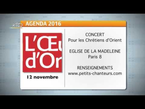 Agenda du 21 octobre 2016