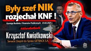 Były szef NIK rozjechał KNF❗ Senator Kwiatkowski zmiażdzył KNF na komisji finansów. 23.02.2021⚠ PWGE