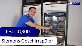 Test: Siemens Geschirrspüler iQ300