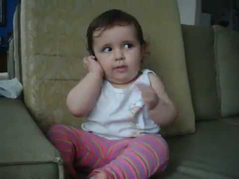 A child making phone call