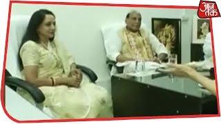 नामांकन दाखिल करने से पहले Rajnath Singh और Hema Malini से ख़ास बात Anjana Om Kashyap के साथ
