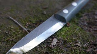 knifemaking - scandi ground partial tang