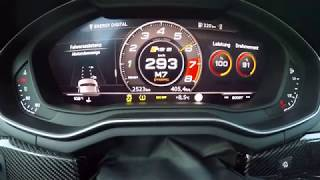 Brutal 0-318 km/h (0-199 mph) acceleration - HGP Audi RS5 B9 [615 hp] - German Autobahn