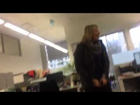 Coworker gets surprised with Ellen tickets!
