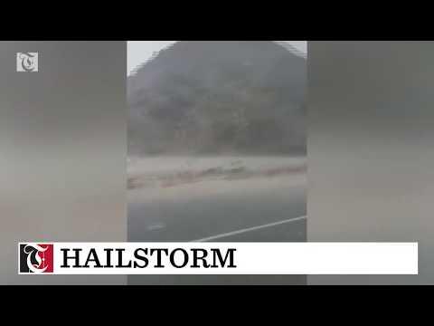 Hailstorm in Musandam