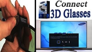 How to use 3D glasses samsung smart tv   how to watch 3d tv