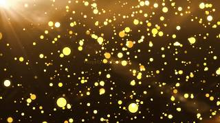 golden particle overlay | golden bokeh particles - hd video background loop | Royalty Free Footages