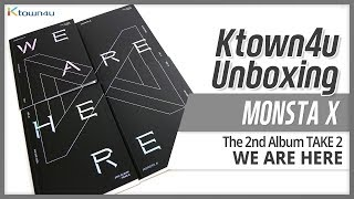 Unboxing MONSTA X 2nd album Take 2 [WE ARE HERE] モンスター·エックス 몬스타엑스 언박싱 Kpop Ktown4u
