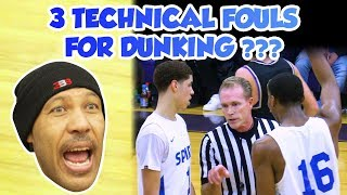 LaMelo Ball 3 Techs for Dunking - FULL GAME Spire vs Vermilion - Lavar Mad at Refs