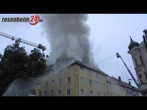 Dachstuhl-Brand in der Rosenheimer Prinzregentenstraße