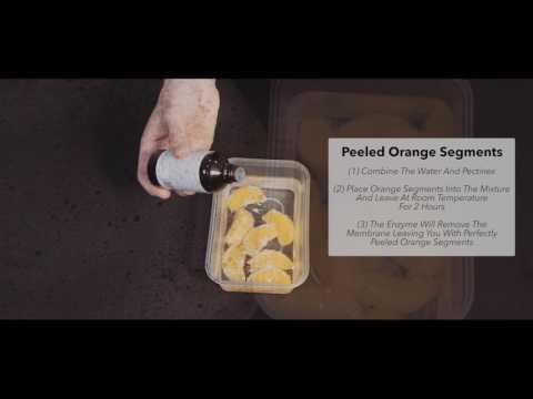 Enzyme Peeled Orange Segments Using Special Ingredients Pectinex