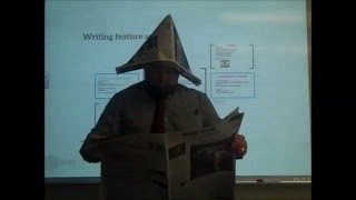 Mr  Karle Journalism writing a feature article
