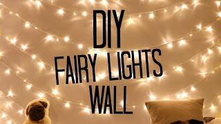 DIY Fairy Light Wall! | Sophdoesnails