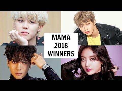 MAMA AWARDS 2018 WINNERS