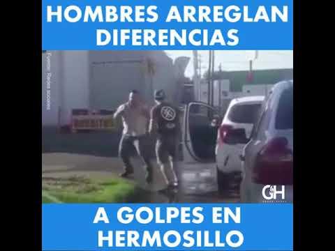 Hombres se lían a golpes para arreglar diferencias en calle de Hermosillo
