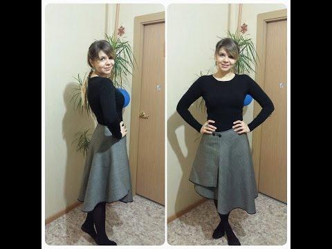Как сшить длинную юбку с запахом своими руками быстро и без выкройки фото 647