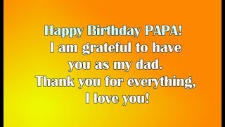 Happy Birthday Wishes for Dad || Happy Birthday Dad