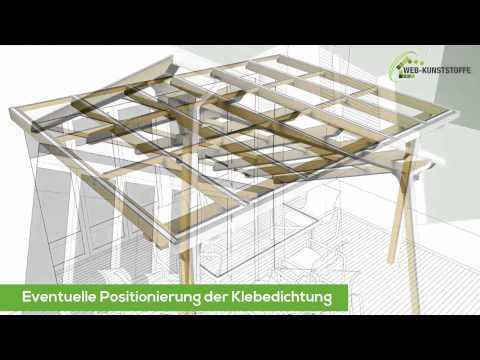 Anleitung Doppelstegplatten verlegen – Verlegeanleitung Stegplatten (Polycarbonat)