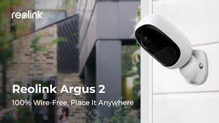 Камера видеонаблюдения Reolink Argus 2 1080P водонепроницаемая, работа до 6 месяцев от компании Интернет-магазин Kamerka - видео 1