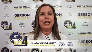 Gladys Rodríguez, Candidata Asambleísta Nacional del Ecuador 2021.